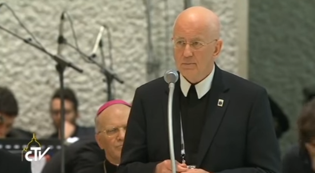 Vice Chancellor Brother Peter Bray Addresses Pope Francis at World Congress