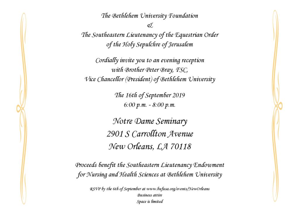 2019 Reception In New Orleans La Bethlehem University