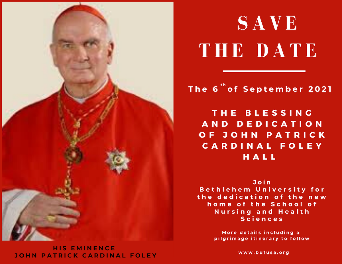 Save The Date, 6 September, 2021 | The Blessing And Dedication of John Patrick Cardinal Foley Hall